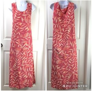 Tommy Bahama Silk Floral Tropical Maxi Dress Sz 14